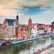 Gdansk old town and Motlawa river — Stock Photo #52971741