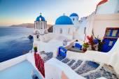 Oia town on Santorini — Foto Stock