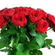 Red wet roses flowers bouquet — Stock Photo #54561329