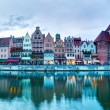 Gdansk old town and Motlawa river — Stock Photo #58091697