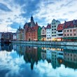 Gdansk old town and Motlawa river — Stock Photo #58091745