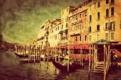 Venice Grand Canal and gondolas — Stock Photo
