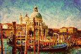 Gondola jetty next to Santa Maria della Salute. — Stock Photo