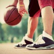 Man on basketball court — Stock Photo #59805565