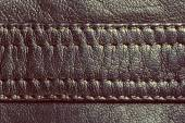 Vintage leather with seam — Foto Stock
