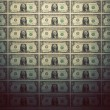 Wallpaper of one dollar banknotes. — Stock Photo #63994661