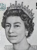 Queen Elizabeth II on  banknote — Stock Photo
