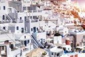 Город Фира на острове Санторини — Стоковое фото