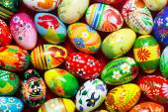 Handmade Easter eggs — Stock Photo