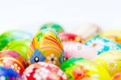 Handmade Easter eggs collection. — Stock Photo
