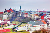 Lublin old town panorama, Poland.  — Stock Photo