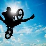 Man jumping on bmx bike — Stock Photo #70602861