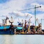 Ship under construction, repair — Stock Photo #70907911