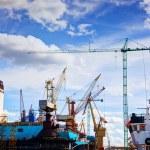 Ship under construction, repair. — Stock Photo #70908207