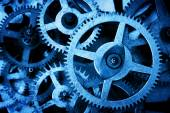 Grunge gear, cog wheels background. — Stock Photo