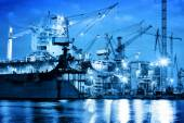 Shipyard at work, ship repair, freight. — Stock Photo