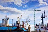 Ship under construction, repair. — Stock Photo