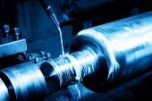 Industrial turning machine at work — Stock Photo