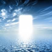 Water towards light, new world. — Stock Photo