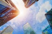 Modern business skyscrapers, — Stock Photo