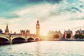 Big Ben, Westminster Bridge — Stock Photo
