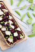 Beetroot tart — Stock Photo