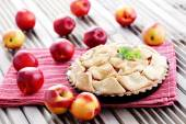 Nectarine tart — Stock Photo