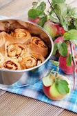 Yeast apple cake — Stok fotoğraf