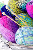Lots of colorful wool — Stock Photo
