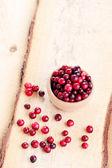 新鲜和美味的小红莓 — 图库照片