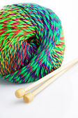 Close up of colorful wool — Stock Photo