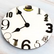 Wall clock with black number — Stock Photo #59458865