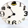 Wall clock with black number — Stock Photo #59458887