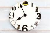 Wall clock with black number — Stock Photo