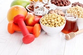 Bowl full of various cereals — Stock Photo