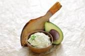 Homemade fish paste with avocado — Stock Photo