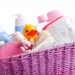 Basket full of baby accessories — Stock Photo #63390313