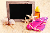 Summer time on the beach — Stock Photo
