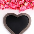 Lots of pink tulips with heart — Stock Photo #70880251