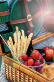 Food for picnic time — Stock Photo