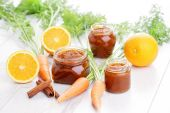 Carrot and orange jam — Stock Photo