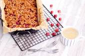 Homemade gooseberry cake — Stock Photo