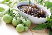 Green tomatoes jam — Stock Photo