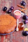 Bowl full of plums — Stock Photo