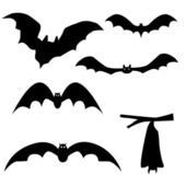 Collection of bats isolated on white background, vector — Stock Vector