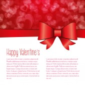 Valentines day background, vector — Stock Vector