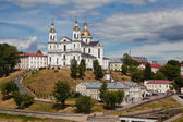 Vitebsk. Assumption mountain. View of the temple of the Holy Ghost and the Holy Dormition Cathedral. — Stock Photo