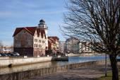 "Russia,  Kaliningrad - 23 march 2015: Tourist Attraction ""Fishing Village"" — Stock Photo"