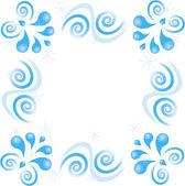 Swirl mönster av stjärnor på vit bakgrund — Stockvektor