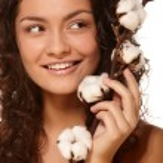 Woman Holding Cotton — Stock Photo #51999073